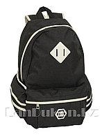Универсальный школьный рюкзак с ромбиком черный