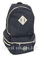 Универсальный школьный рюкзак с ромбиком синий