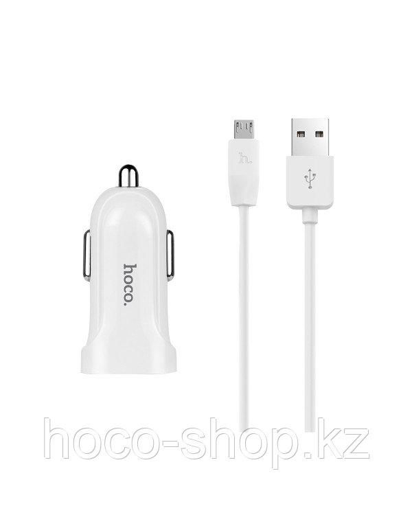 Зарядное устройство для телефона в авто Z12 Hoco с кабелем Micro