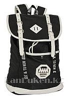 Универсальный школьный рюкзак с ромбиком 8090 черный