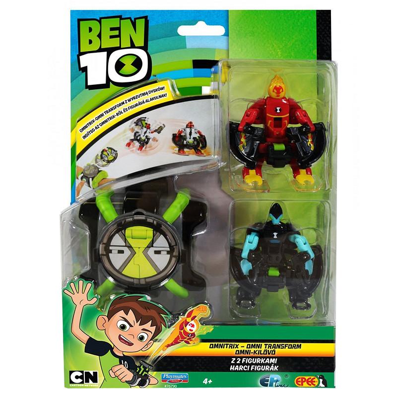 Ben 10 Игровой набор Бен 10 - Омнизапуск (Человек-огонь и Молния)