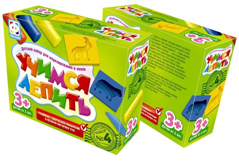 """Фантазёр 977004 Детский набор для моделирования и лепки №4 """"Учимся лепить"""""""