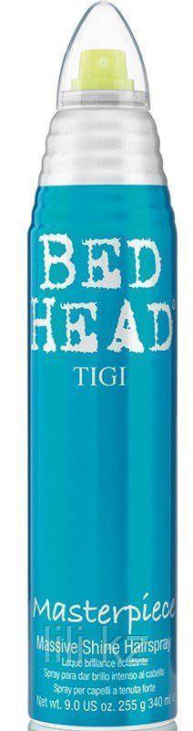 Лак для блеска и фиксации волос -  Tigi Bed head masterpiece massive shine hairspray 340 мл.