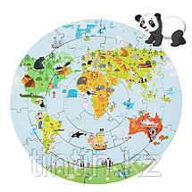 Деревянные Пазлы - Карта мира (36 деталей), фото 2