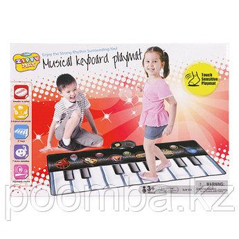 Детский музыкальный коврик пианино