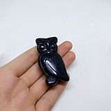 Сова из черного оникса, 50х25х15мм, фото 3