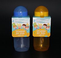 Бутылка «Детская» однотонная с трубочкой 400 мл, фото 1