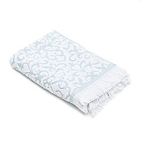 Банное полотенце «BAROCCO» 70*140 см. Берюзово-белое.