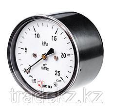 Манометр низкого давления (тягонапоромер, напоромер) мембранный ТНМПф, НМПф д.63 мм, фото 3