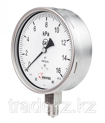 Тягонапоромер, напоромер коррозионностойкий ТНМПф Кс, НМПф Кс д.160 мм, фото 2