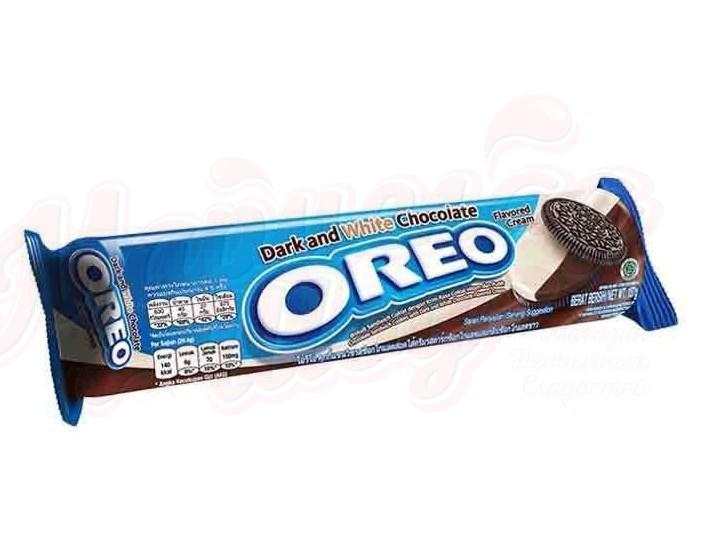 Печенье Oreo Dark & White  133гр (24шт-упак)