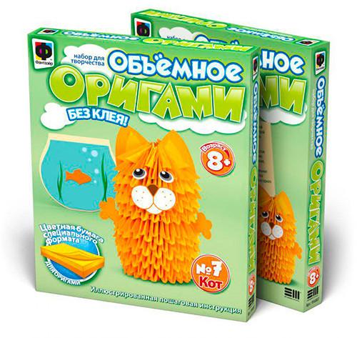 """Фантазёр 956007 Объемное оригами """"Кот"""""""