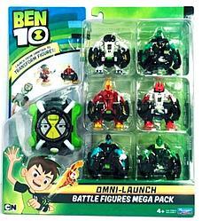 Ben 10 Игровой набор Бен 10 - Омнизапуск (Человек-огонь и Молния) 6 пришельцев