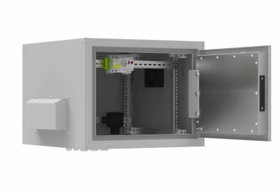 Шкаф термоизолированный 9U глубина 600 укомплект