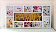 """Фоторамка """"Family"""", на 10 фото белая, фото 1"""