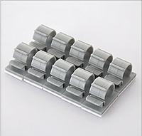Набор пластиковых креплений для проводов (серый 10шт).