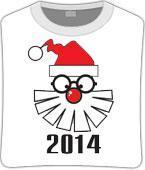 Футболка unisex с принтом «Дед мороз в очках», фото 1