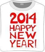 Футболка unisex с принтом «2014-happy-new-year», фото 1