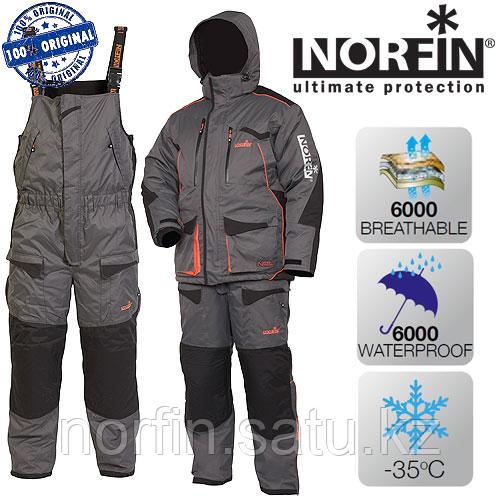 Костюм для зимней рыбалки Norfin DISCOVERY GRAY р.L (52-54)  темп.-35С