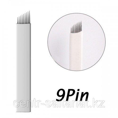 Иглы-лезвие (9) для нанесение микроблейдинга, перманентного макияжа (татуажа) бровей