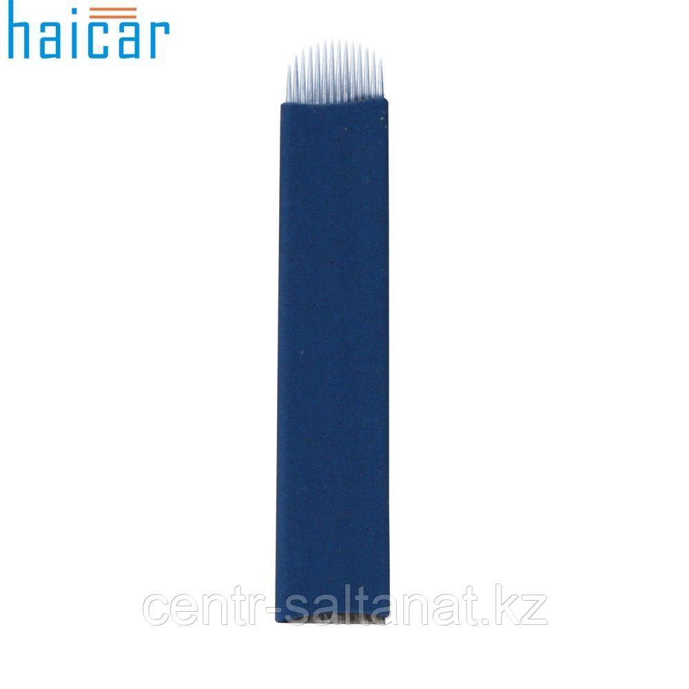 Иглы-лезвие 12U для микроблейдинга, перманентного макияжа (татуажа) бровей