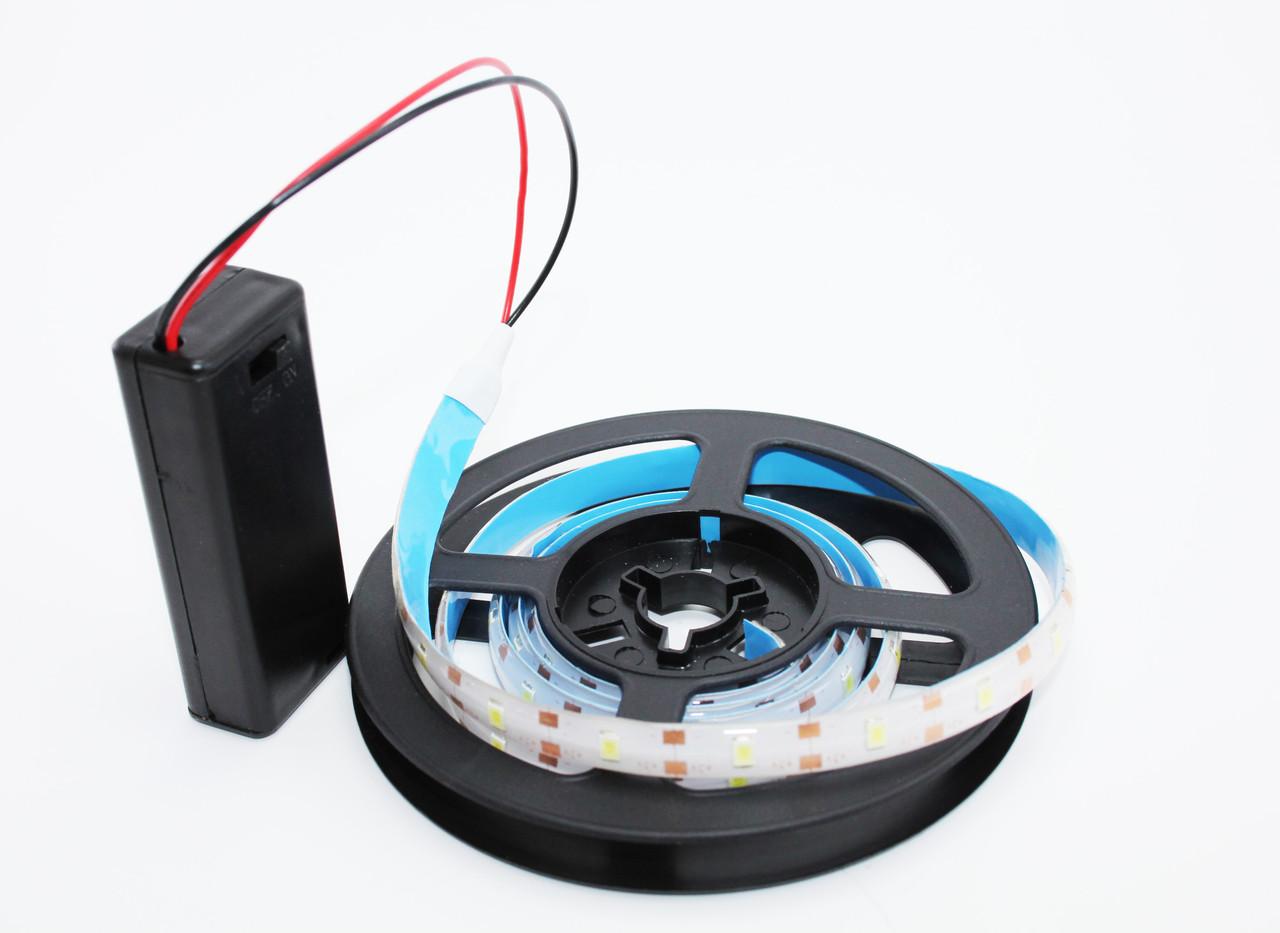 Светодиодная подсветка 2835SMD с блоком для батареек