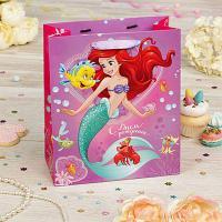 """Пакет подарочный вертикальный """"С Днем Рождения!"""", Принцесса: Ариэль, 31 х 40 х 11 см"""