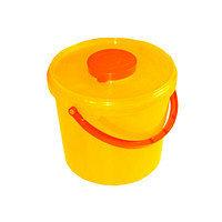 Контейнер пластиковый безопасный для сбора острого инструментария, 6 л, класс Б