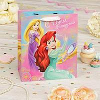 """Пакет подарочный вертикальный """"Волшебное день рождение!"""", Принцессы, 31 х 40 х 11 см"""
