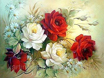 """Картины по номерам  - Алматы, """"Розы для тебя"""""""