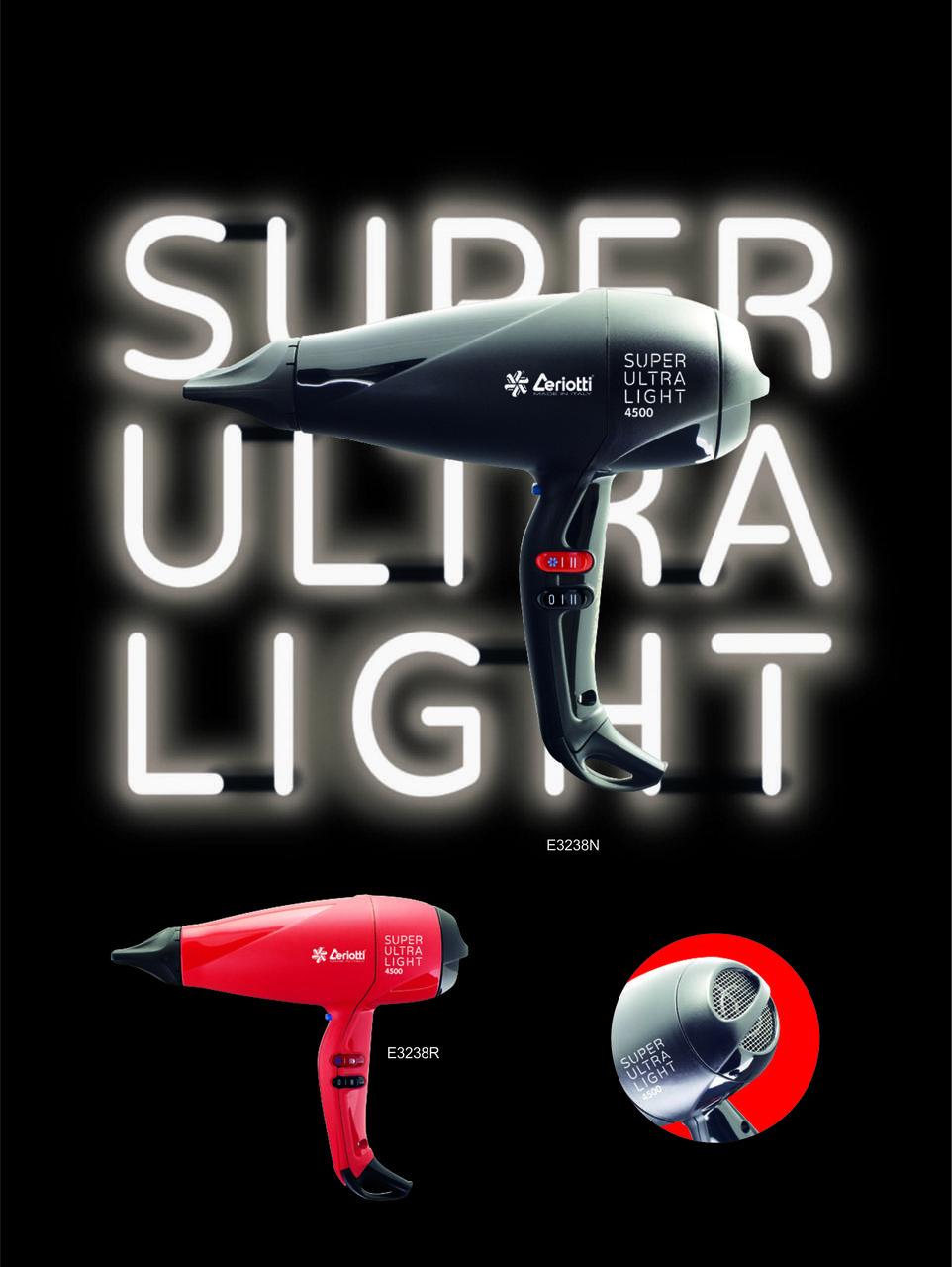 Фен Ceriotti ULTRA LIGHT 4500, 2100-2500W
