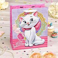 """Пакет подарочный вертикальный """"С Днем рождения, красавица!"""", Коты аристократы, 31 х 40 х 11 см"""