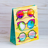 Пакет подарочный вертикальный «Пляжное настроение», MS 18 х 23 х 8 см