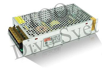 Блок питания 12V 10A 120W, открытый. Трансформатор 220В-12В, 120 Ватт. Блоки питания импульсные 12 вольт.