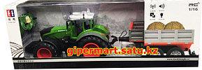 Радиоуправляемый сельскохозяйственный трактор с прицепом RC Car Double Eagle масштаб 1:16 - E354-003, фото 3