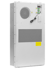 Кондиционер для установки в уличный шкаф, холодопроизводительность 800Вт, со встроенным электрическим калорифе