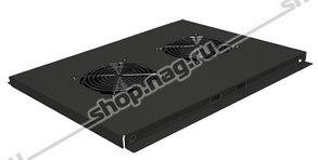 Блок вентиляторов для шкафов TFC глубиной 600мм, 2 вентилятора, черный