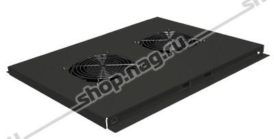 Блок вентиляторов для шкафов TFC глубиной 800мм, 2 вентилятора, черный