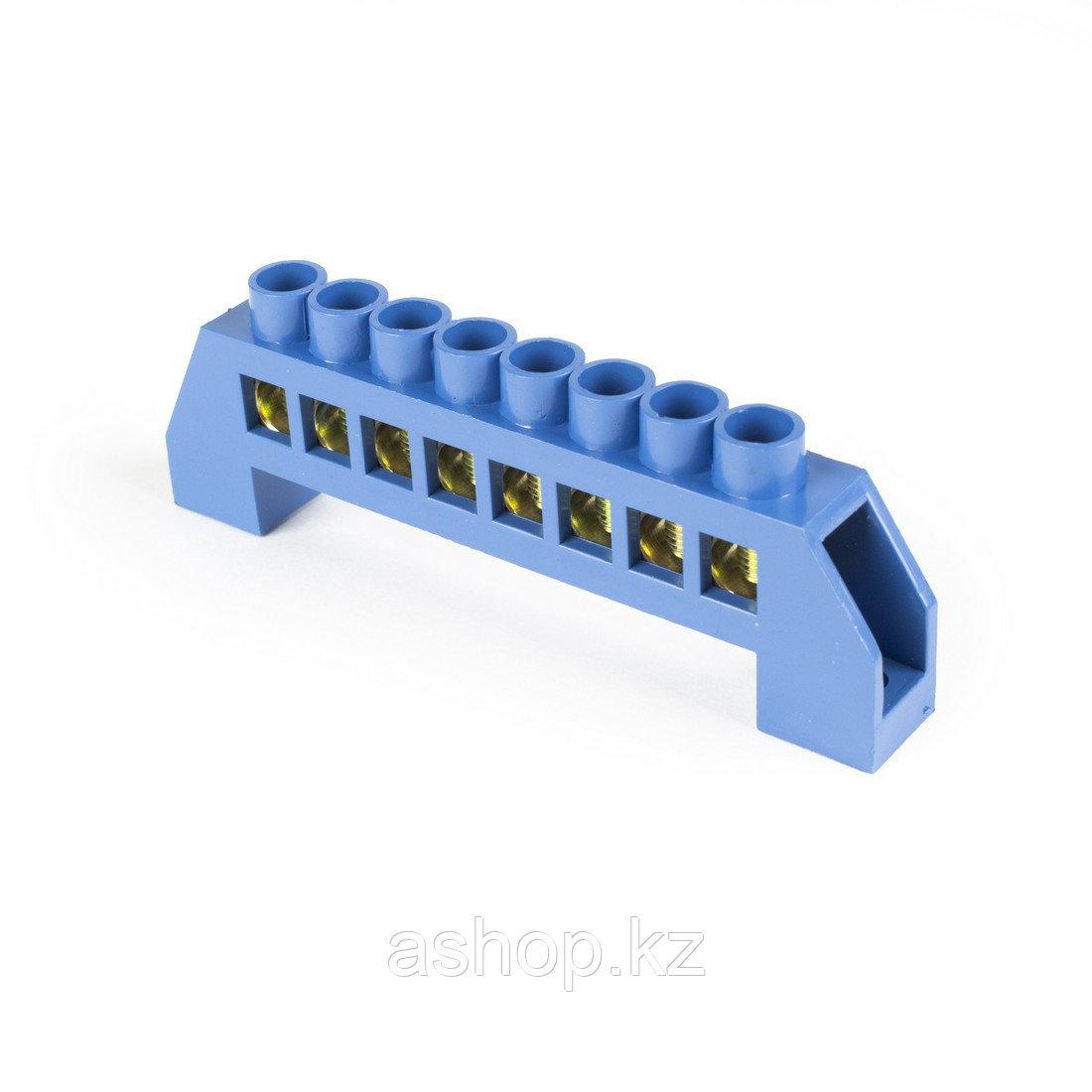 Шина нулевая изолированная Deluxe TS-0812С/8, Кол-во групп:8, Крепление: на изоляторах, Соединение: Болтовое,