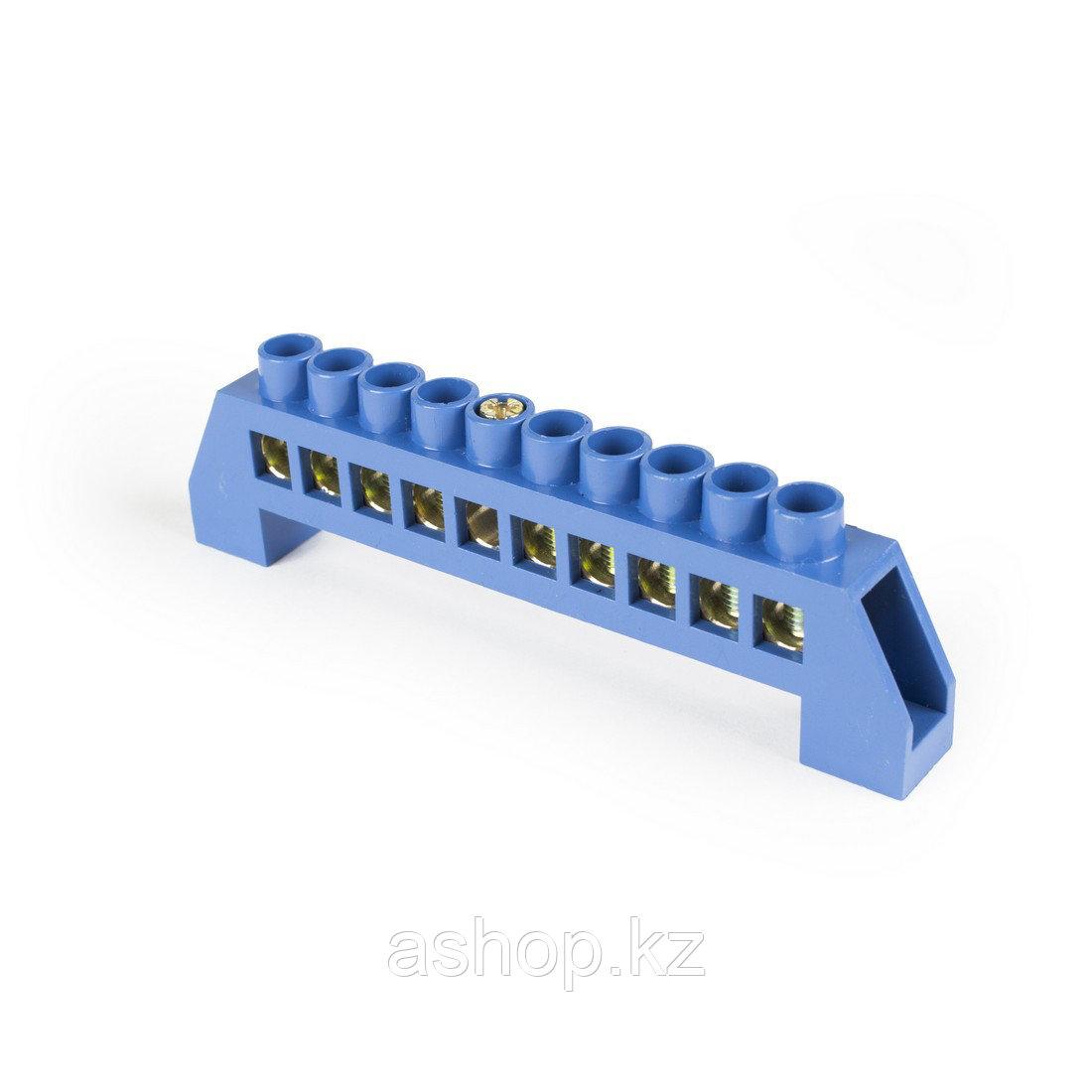 Шина нулевая изолированная Deluxe TS-0812С/10, Кол-во групп:10, Крепление: на изоляторах, Соединение: Болтовое
