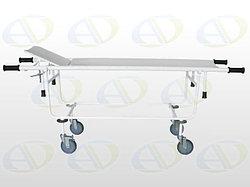 Тележка для перевозки  больных со съемной панелью ТБС-01 с подголовн.колёса 150 мм. в комплекте с матрацем