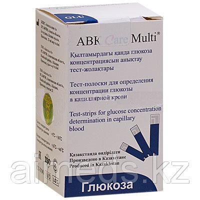 Тест полоски  глюкозы АВК  Care Multi №50