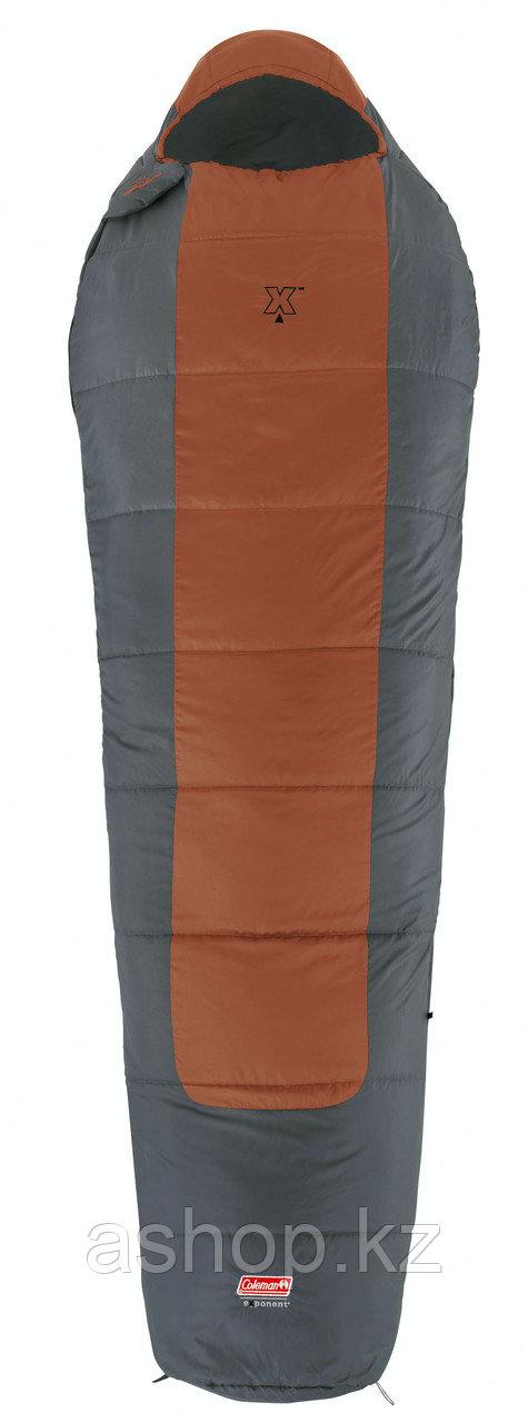 Спальный мешок кемпинговый Coleman Fusion x480, Форм-фактор: Кокон, Мест: 1, t°(комфорта): +14°С-+10°С, t°(Экс