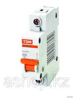 Автоматический выключатель реечный TDM ВА47-63 1P 25А, 230/400 В, Кол-во полюсов: 1, Предел отключения: 4,5 кА