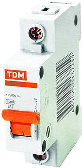 Автоматический выключатель реечный TDM ВА47-63 1P 32А, 230/400 В, Кол-во полюсов: 1, Предел отключения: 4,5 кА