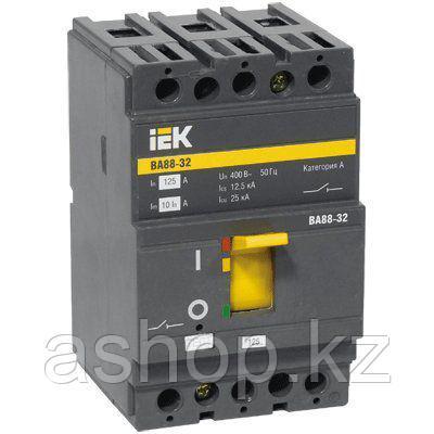 Автоматический выключатель установочный IEK ВА88-32 3P 100А, 230/400 В, Кол-во полюсов: 3, Предел отключения: