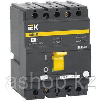 Автоматический выключатель установочный IEK ВА88-32 3P 80А, 230/400 В, Кол-во полюсов: 3, Предел отключения: 2