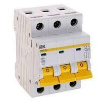 Автоматический выключатель реечный IEK ВА47-29 3P 50А, 230/400 В, Кол-во полюсов: 3, Предел отключения: 4,5 кА