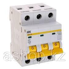 Автоматический выключатель реечный IEK ВА47-29 3P 25А, 230/400 В, Кол-во полюсов: 3, Предел отключения: 4,5 кА