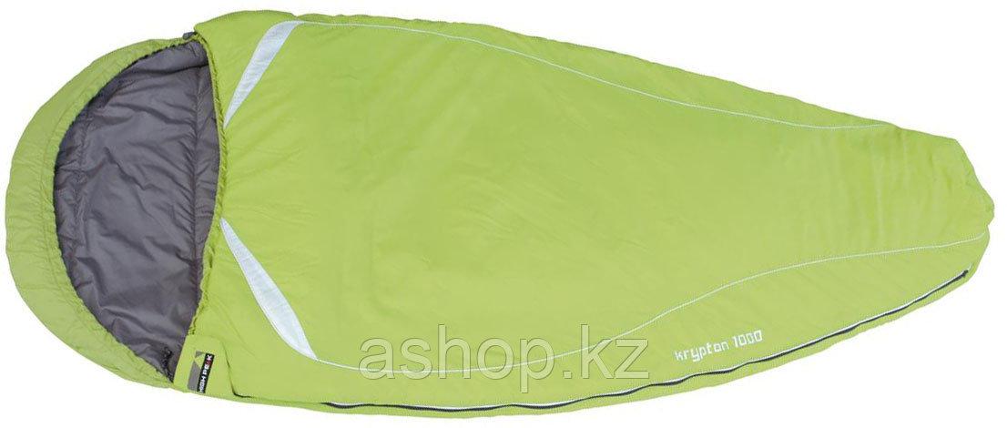 Спальный мешок трекинговый, кемпинговый High Peak KRYPTON 1000, Форм-фактор: Кокон, Мест: 1, t°(комфорта): +9°